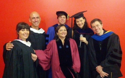 SLAC faculty at Barnard Graduation